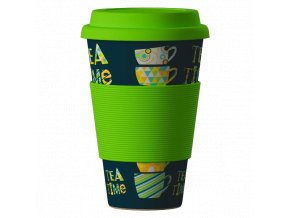 Bamboo Cup ekologický termohrnek 400ml – Time for Tea green
