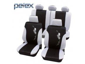 PETEX Autopotahy UNI FLOWER white