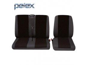 PETEX Autopotahy UNI PROFI 1 červené přední místa 1+2