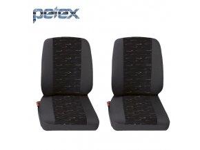 PETEX Autopotahy UNI PROFI 2 modrá přední místa 1+1