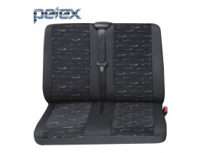 PETEX Autopotahy UNI PROFI 2 modrá zadní dvojsedadlo
