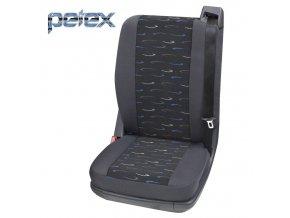 PETEX Autopotahy UNI PROFI 2 modrá zadní samostatné sedadlo