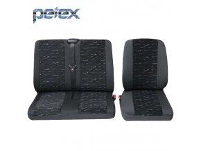 PETEX Autopotahy UNI PROFI 2 modré přední místa 1+2
