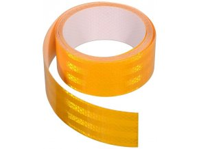 Samolepící páska reflexní 5 cm oranžová - cena za metr