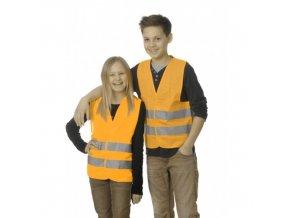 VÝSTRAŽNÁ VESTA-reflexní, určená pro děti 16-10