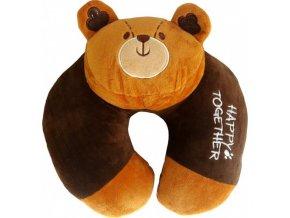 CESTOVNÍ POLŠTÁŘEK s hlavou medvídka 90-52