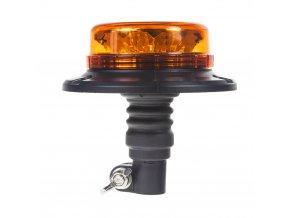 LED maják, 12-24V, 12x3W oranžový na držák, ECE R65