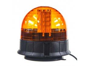LED maják, 12-24V, 40x 5730SMD LED, oranžový magnet, ECE R10