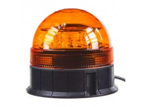 LED maják, 12-24V, 12x3W, oranžový fix, ECE R65