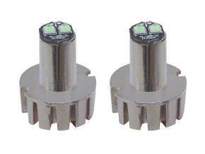 LED stroboskop bílý 2x3W, 12-24V