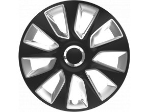 "Kryty kol - poklice Stratos RC 15"" Black&Silver"