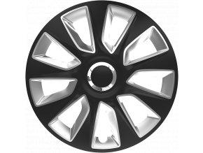 "Kryty kol - poklice Stratos RC 16"" Black&Silver"