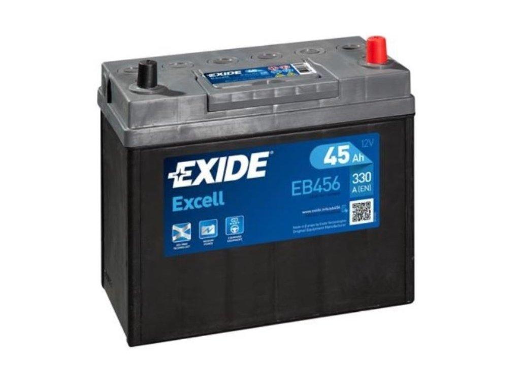 1653 exide excell 12v 45ah 330a eb456