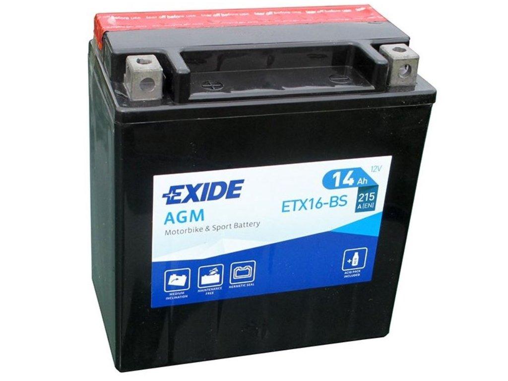 Exide AGM ETX16 BS 14ah 215A