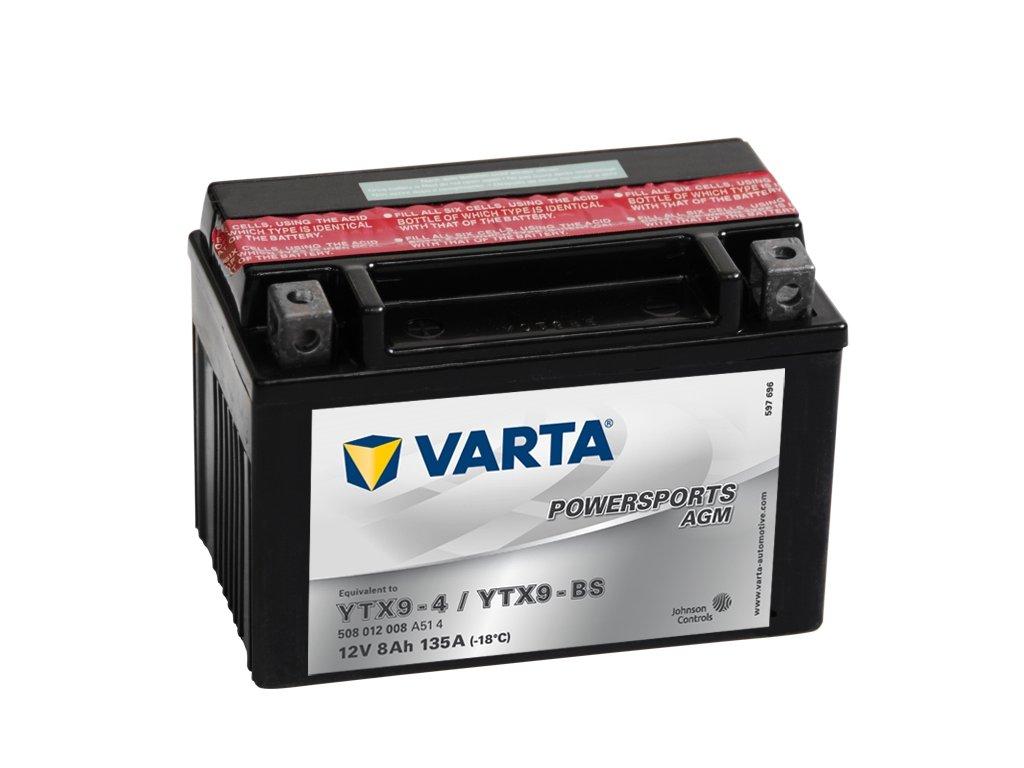 VARTA Powersports AGM 12V 8Ah 135A, 508012008