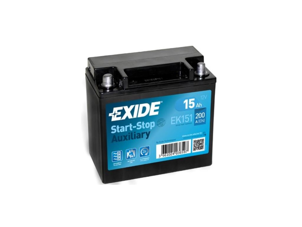 Exide Start Stop Auxiliary 15ah