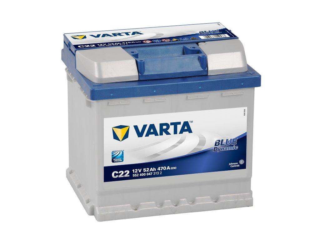 Varta Blue Dynamic 12V 52Ah 470A, 552 400 047