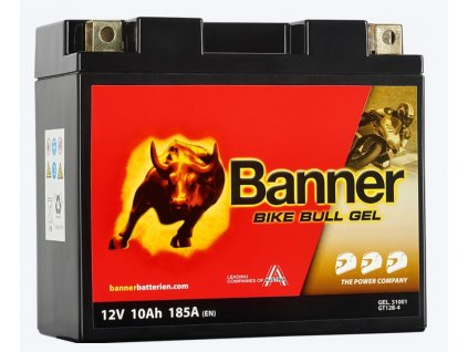 BANNER BIKE BULL GEL GT12B 4 12V 10AH 185A