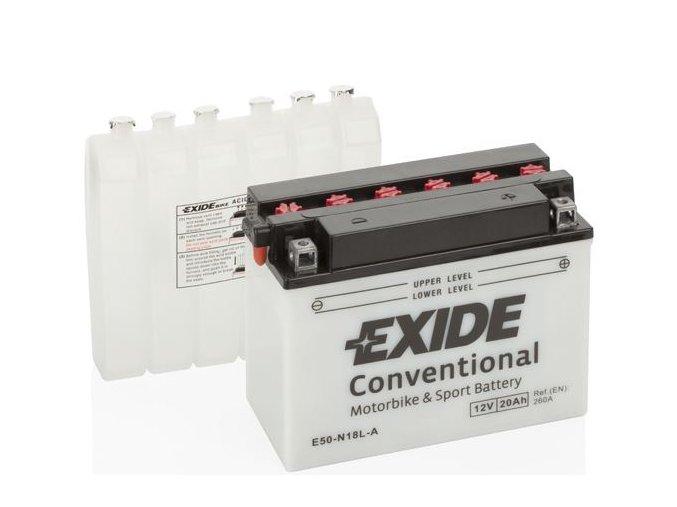 Exide Conventional 12V 20Ah 260A E50 N18L A