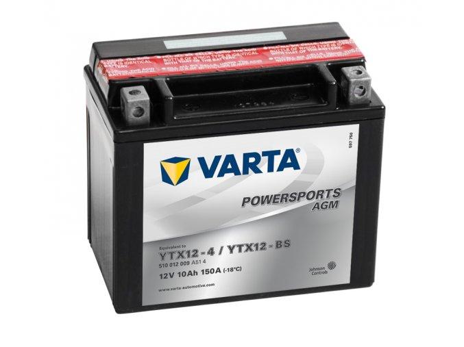 VARTA Powersports AGM 12V 10Ah 150A, 510012009