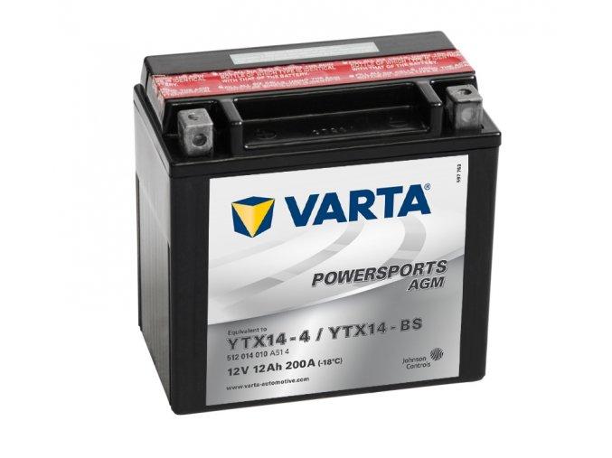 VARTA Powersports AGM 12V 12Ah 150A, 512014010