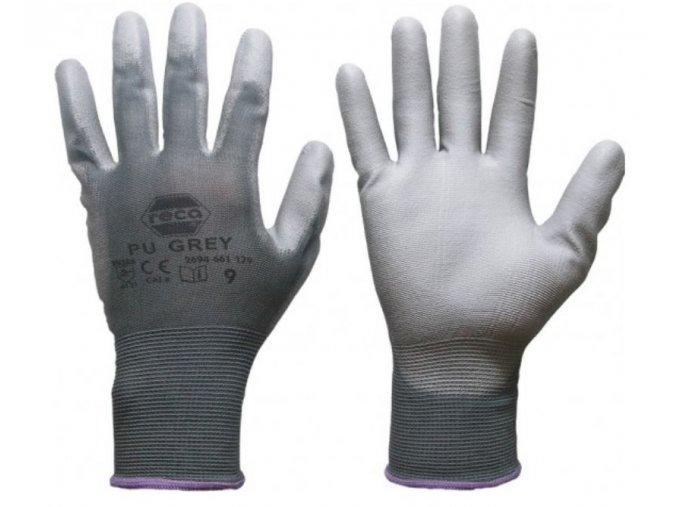 PU Grey šedé rukavice