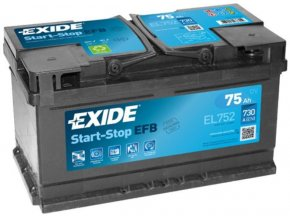 Exide Start Stop EFB 75ah