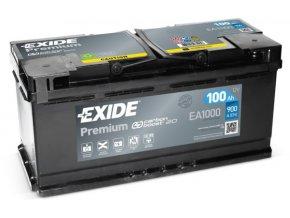 Autobaterie Exide Premium 12V 100Ah 900A EA1000
