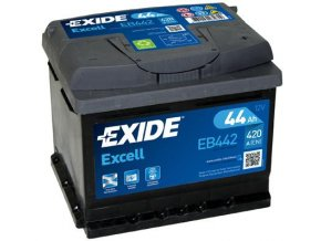 Autobaterie Exide Excell 12V 44Ah 420A EB442