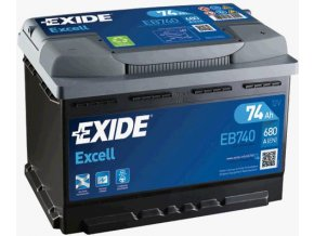 Autobaterie Exide Excell 12V 74Ah 680A EB740