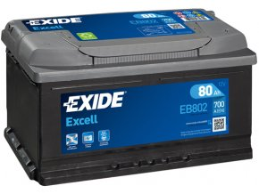 Autobaterie Exide Excell 12V 80Ah 700A EB802