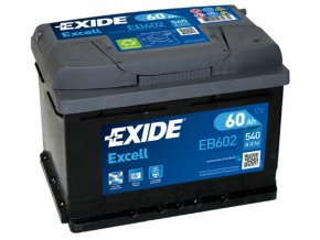 Autobaterie Exide Excell 12V 60Ah 540A EB602