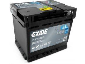 EXIDE Premium 12V 53Ah 540A EA530  plně nabitá autobaterie + reflexní páska zdarma