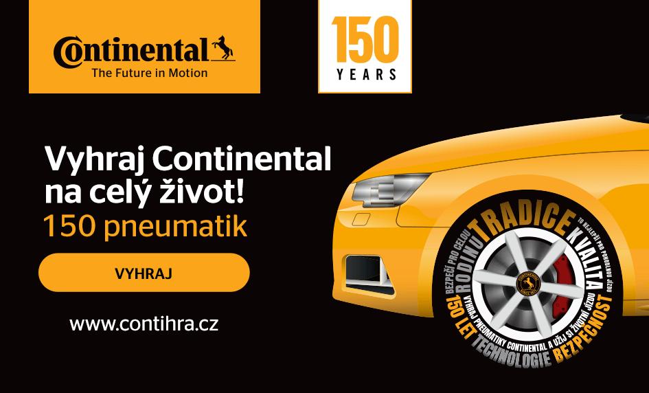 Vyhraj Continental na celý život! 150 pneumatik pro Tebe a Tvoje auto.