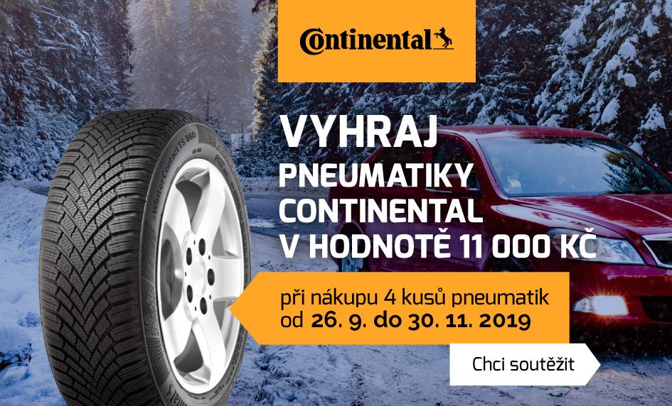 Soutěž o pneu Continental zdarma (v hodnotě 11 000 Kč)