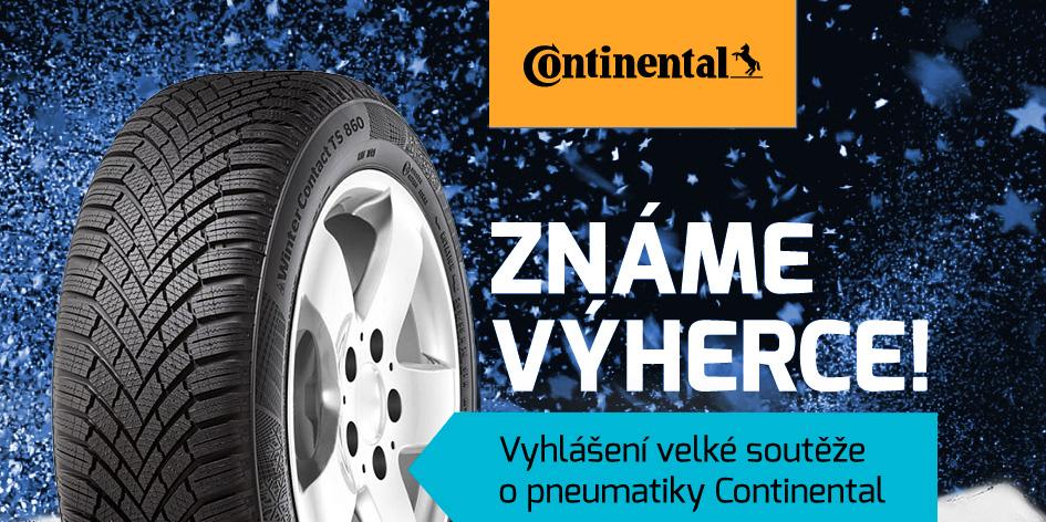 Soutěž o pneumatiky - vyhlášení výherců