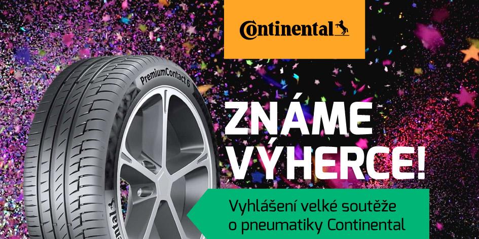 Výherce soutěže o pneumatiky Continental - Vyhlášení
