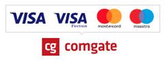 Platební brána ComGate - Přijímáme platby online platební kartou VISA i MASTERCARD