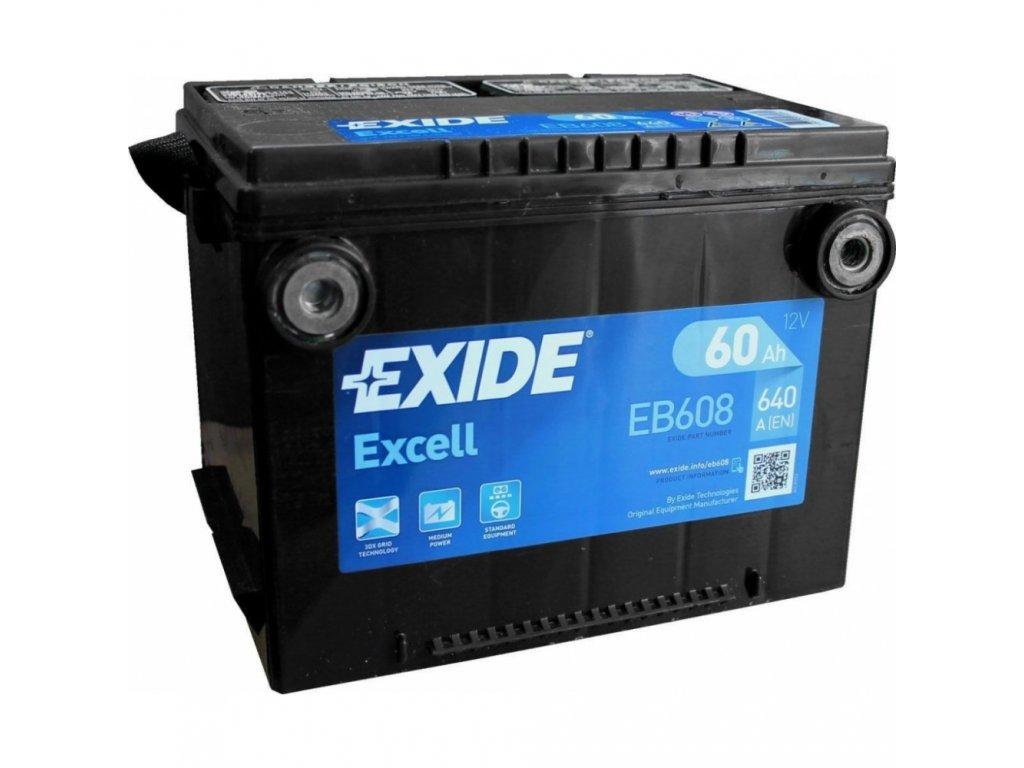 29961 exide 12v 60ah excell eb 608