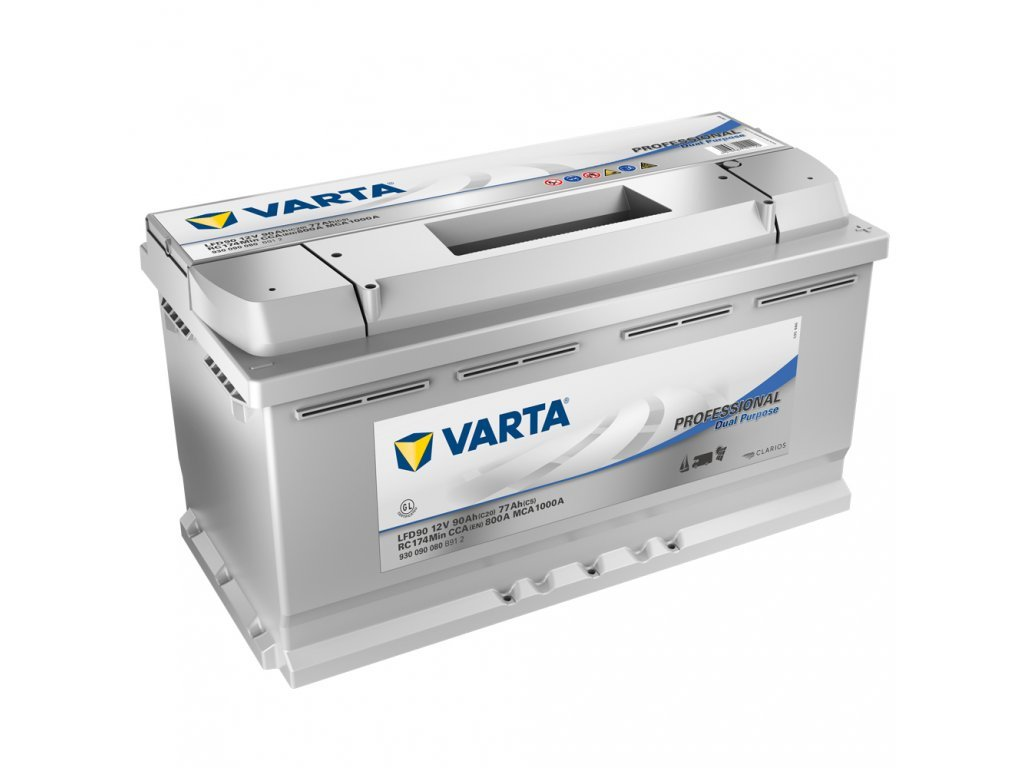 30093 trakcni baterie varta professional dual purpose 12v 90ah 800a 930090080