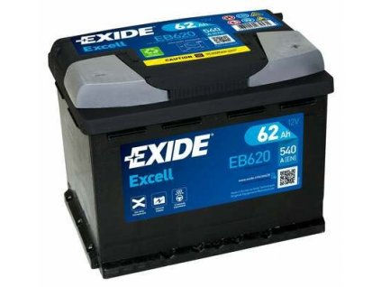 29964 exide 12v 62ah excell eb 620
