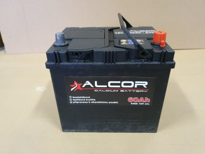 Autobaterie Alcor 12V 60Ah 510A 56012 Asia