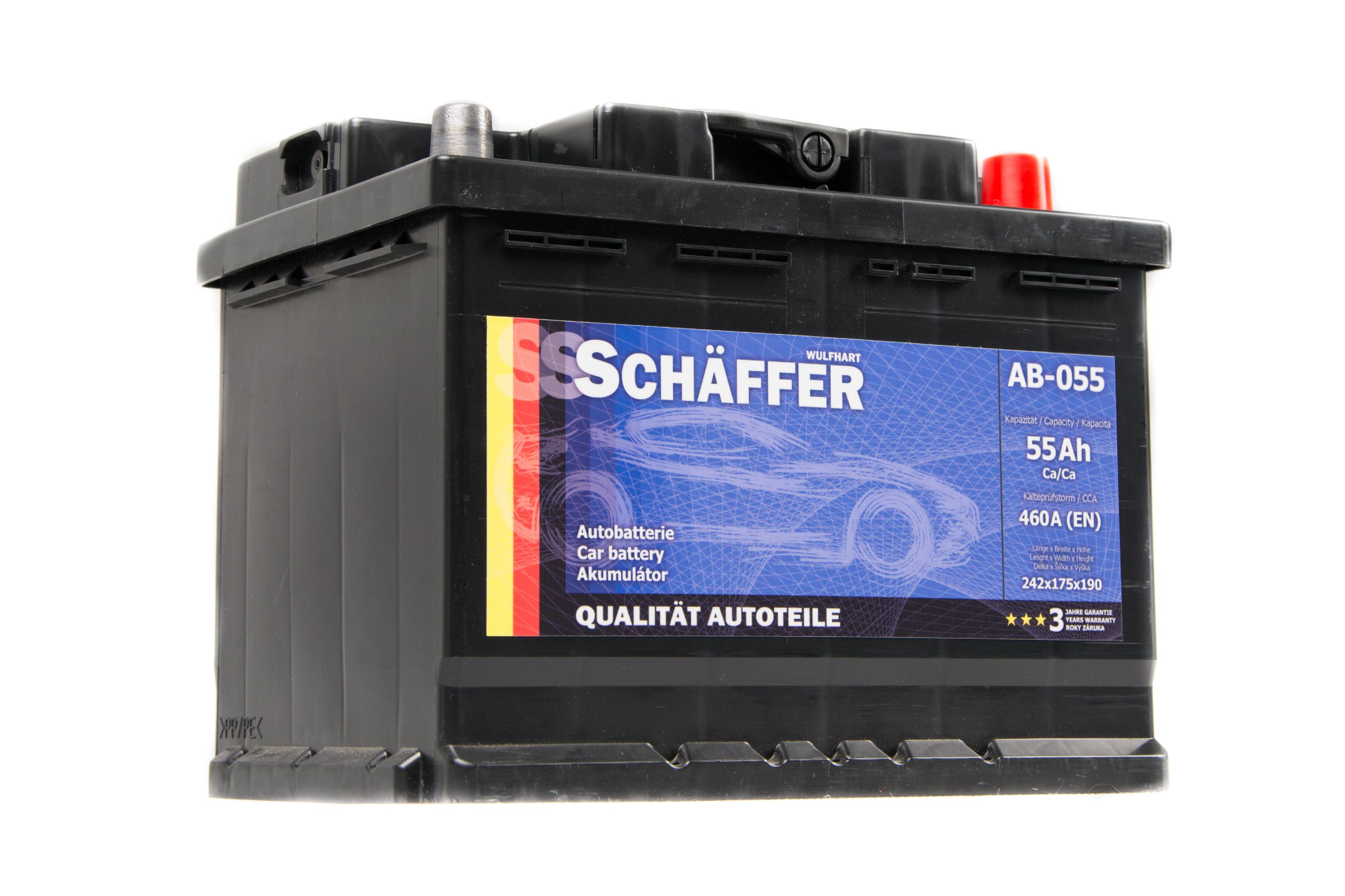 Autobaterie SCHAFFER 55Ah SCHAB055