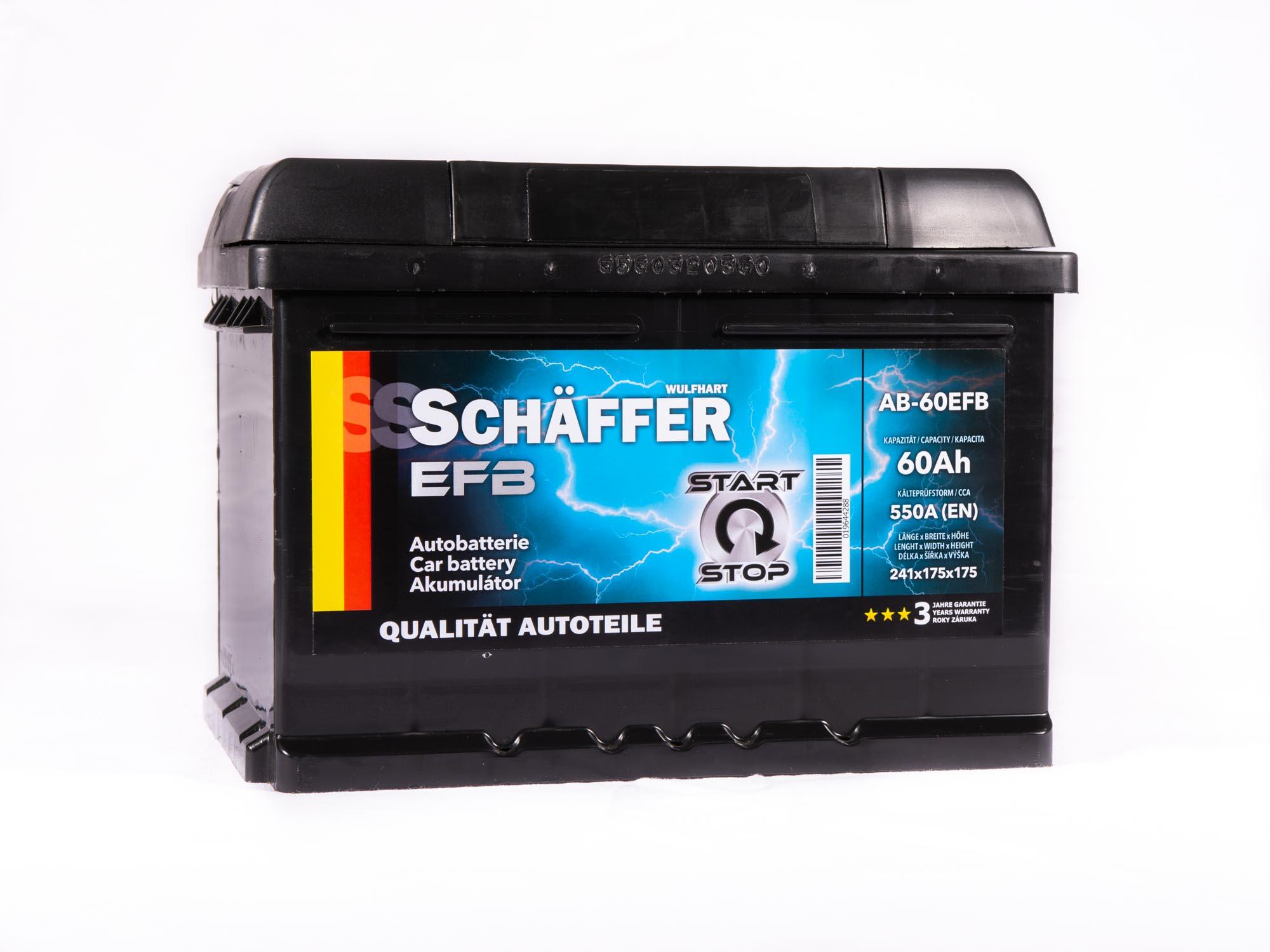 Schaffer Autobaterie EFB 60Ah Start-Stop