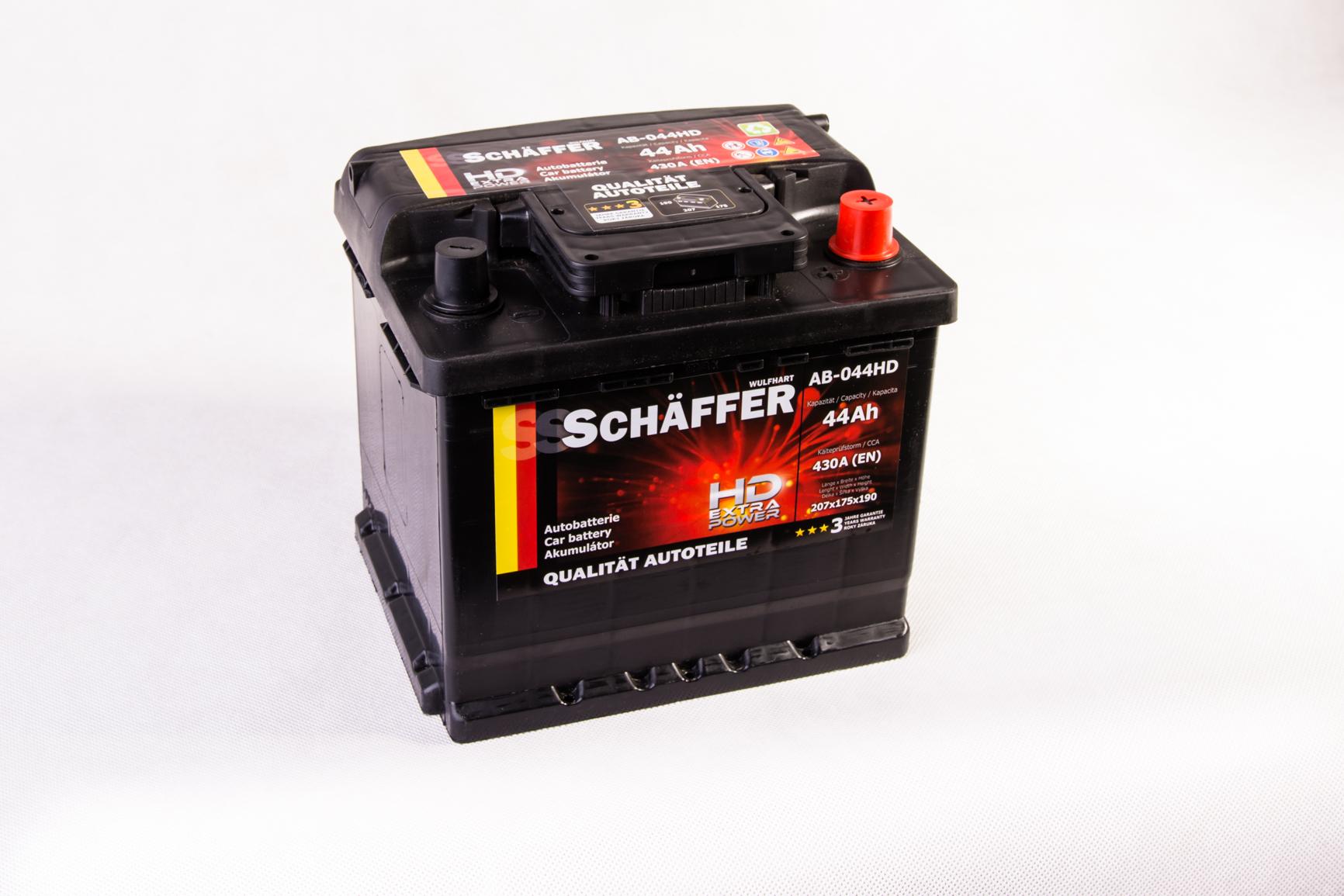 Autobaterie SCHAFFER HD Extra 44Ah