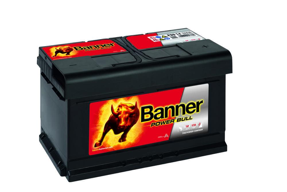 Autobaterie Banner Power Bull P80 14, 80Ah, 12V ( P8014 )