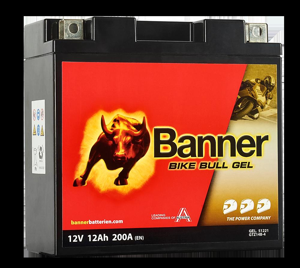Motobaterie Banner Bike Bull GEL 51221, GTZ14B-4 (YT14B-BS), 12V - 12Ah