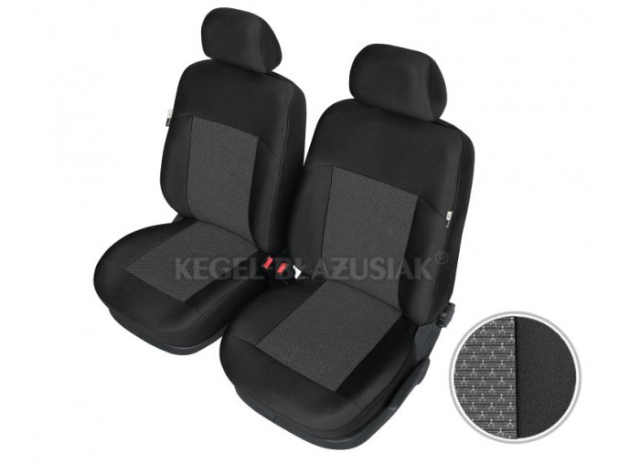 """AUTOPOTAH """"KEGEL"""" na predni sedacky DAEWOO Matiz Apollo černo-šedý 4 ks"""