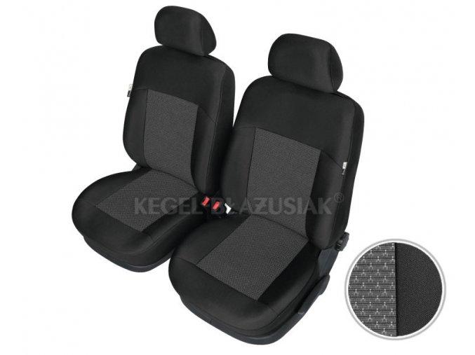 """AUTOPOTAH """"KEGEL"""" na predni sedacky FIAT Strada  Apollo černo-šedý 4 ks"""
