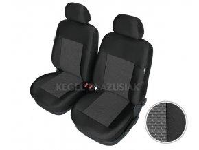 "AUTOPOTAH ""KEGEL"" na predni sedacky ROVER 200 Apollo černo-šedý 4 ks"